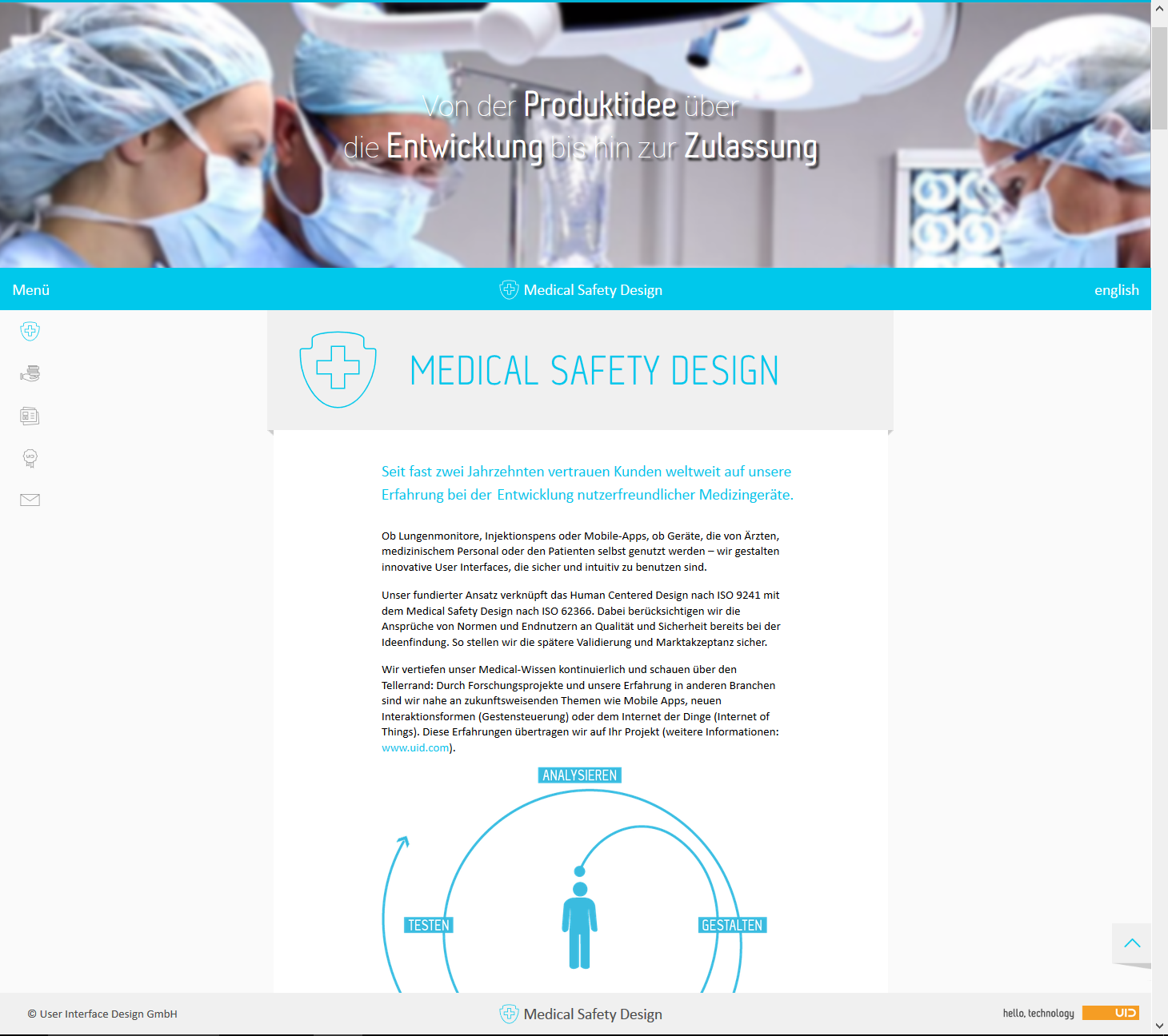 UID Microsite Medical Safety Design